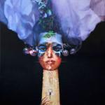 La sposa bionica-2015-tecnica mista su tela cm.70x90x4