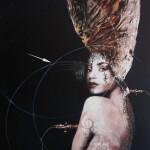 Sorrow-2015-mixed media on canvas cm.100x80x4