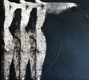 Souls -2011-mixed media on canvas cm.100x90