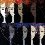 Eclipse - 2011 mixed media on canvas cm.90x90x4