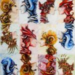 The elements-2006-mixed media on canvas cm. 100x120x2