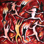 The war of the fire-2006-oil on canvas cm30x30