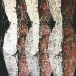 Treble2-2015-mixed media on canvas cm.70x100x4