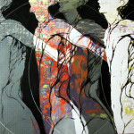 Welcome to the machine-2011 mixed media on canvas cm.70x90x4