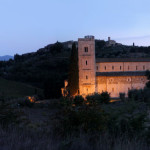 Saint Antimo Abbey at the sunset-2015