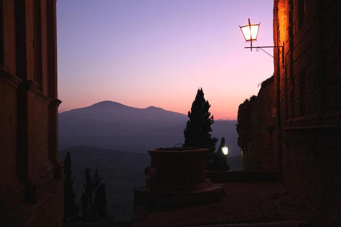 Pienza al tramonto