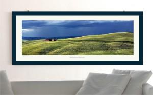 Poster paesaggio toscano con cornice e vetro