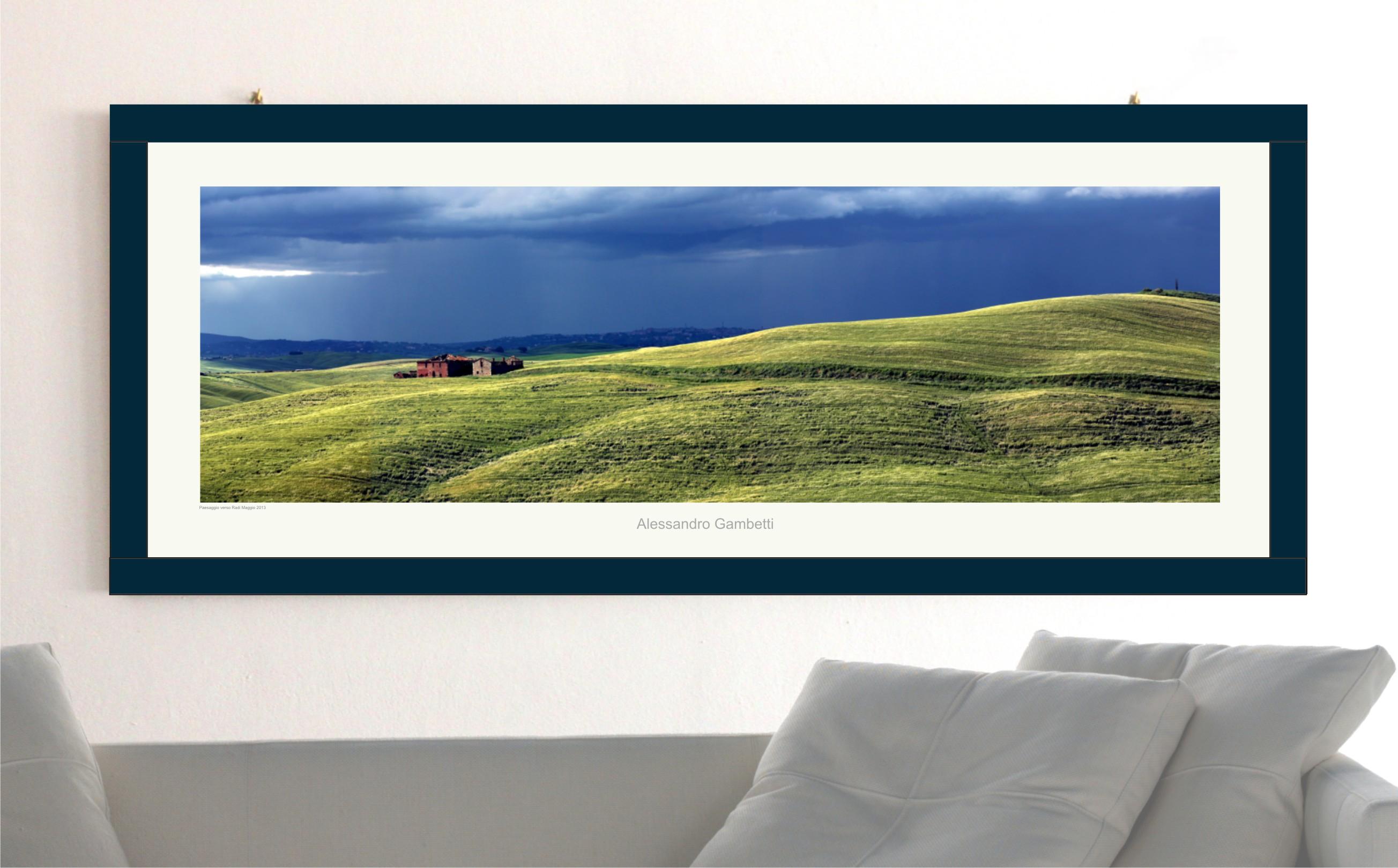 Alessandro gambetti poster paesaggio toscano con cornice for Cornice poster 61x91