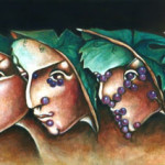 The Chianti's riddle2- 2003 oil on wood cm.30x120 (Private collection)