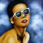 Woman 1996 airbrush on paper