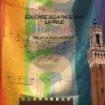 "Cover catalogue ""Educare alla pace per la pace"" size 21x21cm. 60 pag."