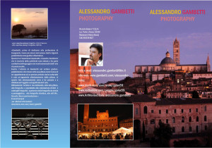 cover depliant Alessandro Gambetti photography