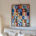 The elements 100x120x2 with wood frame