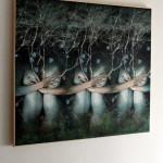 Strawberry forest cm.100x90x4 with wood frame