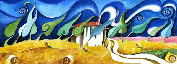 landscapes Tuscan farm in Pienza2