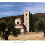 Sant'Antimo Abbey 2013 size 120x40cm