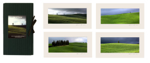 Val d'Orcia-mini cardboard catalogue and 4 passepartout prints cm.12x22