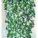 Tree 1998 engraving on zinc plate coloured to han cm9,8x33