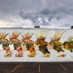 L'enigma del pesce- graffito ambientato