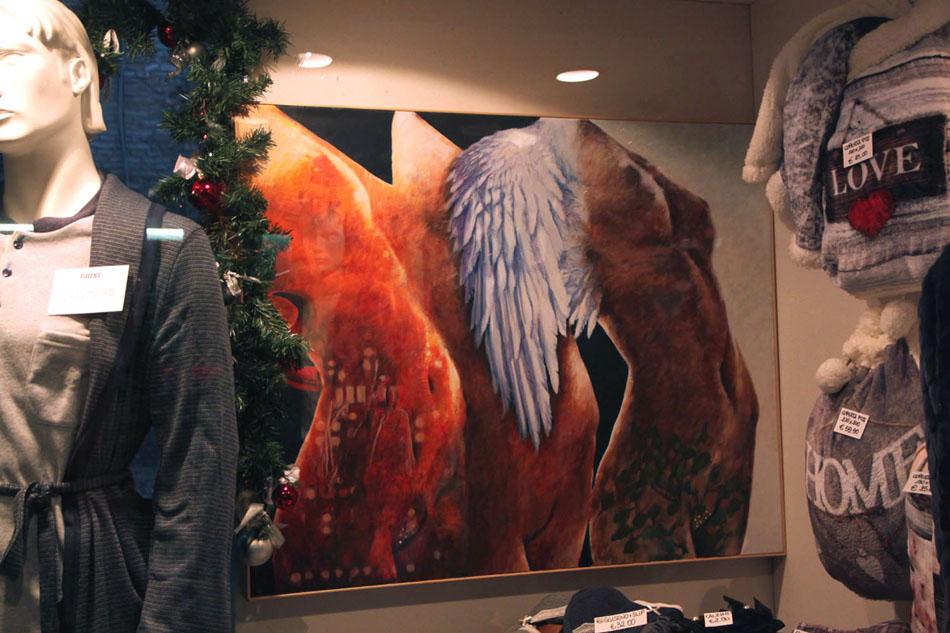 Angeli e demoni, 100x80cm.